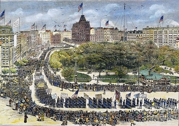 Labor Day Parade 1882