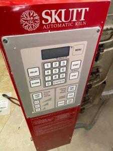 Red Skutt Kiln control panel